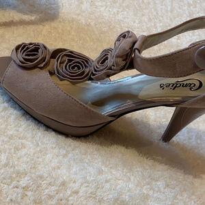 Candie's Taken Blush Heeled Sandals